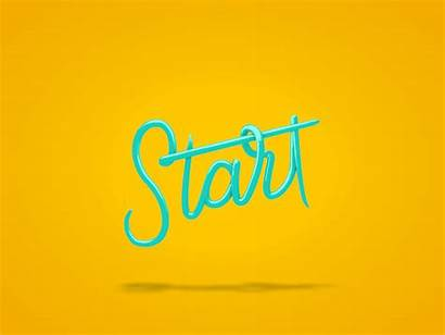 Start Today Animated Words Animation Dribbble Doing