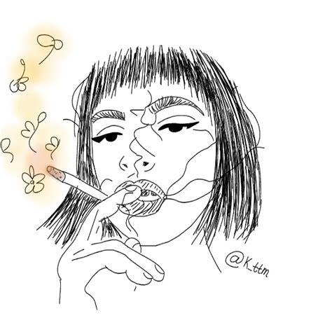 aesthetic smoke kttm drawing tumblr dcaesthetic