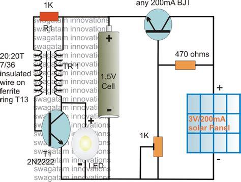 solar pocket led light circuit