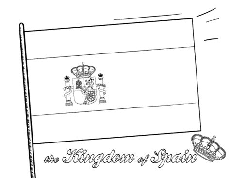 Free Kingdom Spanish Flag Coloring Pages Gianfredanet