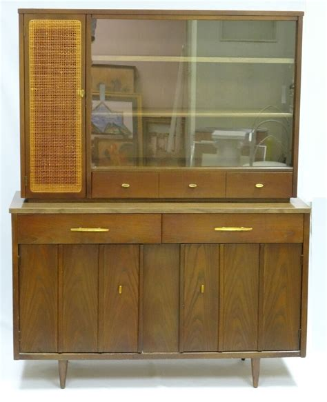 Hutch Sideboard Buffet by 50 S Design Mid Century Holman Walnut Hutch