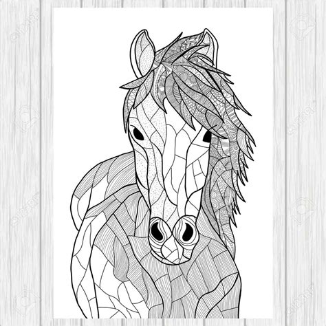 doodle horse horse doodle page zentangle horse animal