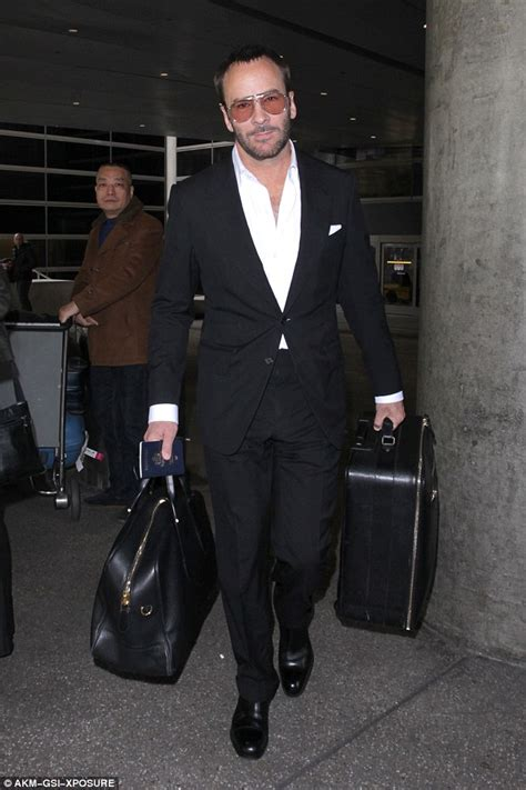 tom ford designer tom ford lands at lax amid spat with donald daily