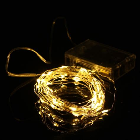 best price 5m 50 led string light battery operated