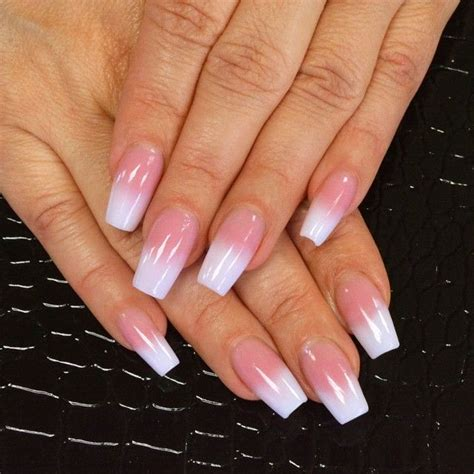 pink and white l pink and white natural nails www pixshark com images