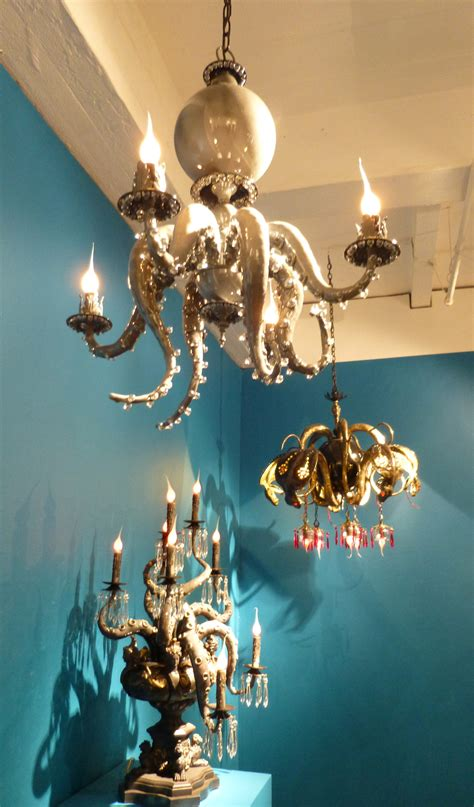 octopus chandelier for adam wallacavage the worley gig