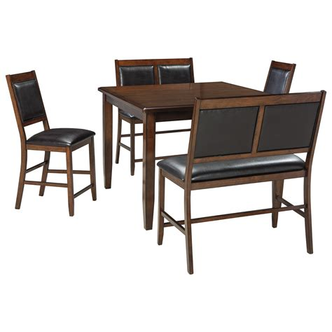 5 piece table set signature design by ashley meredy d395 323 5 piece dining