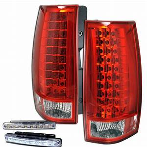 2007 Suburban Rear Brake Tail Lights Red  Clear