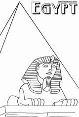 Coloring Pyramid Egypt Egyptian Sheet Pyramids sketch template