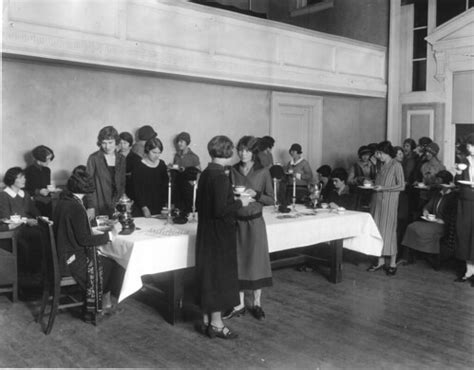 Tea held in the home economics assembly room, with student ...