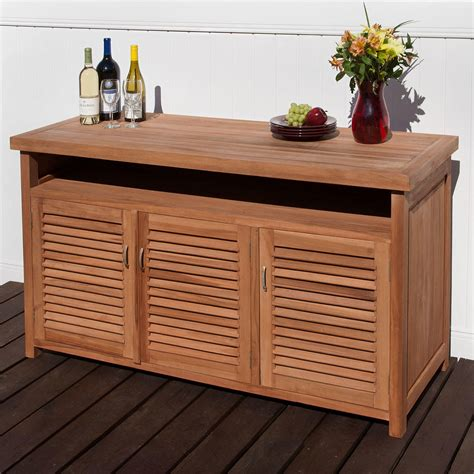 dining table legs teak outdoor buffet with storage outdoor