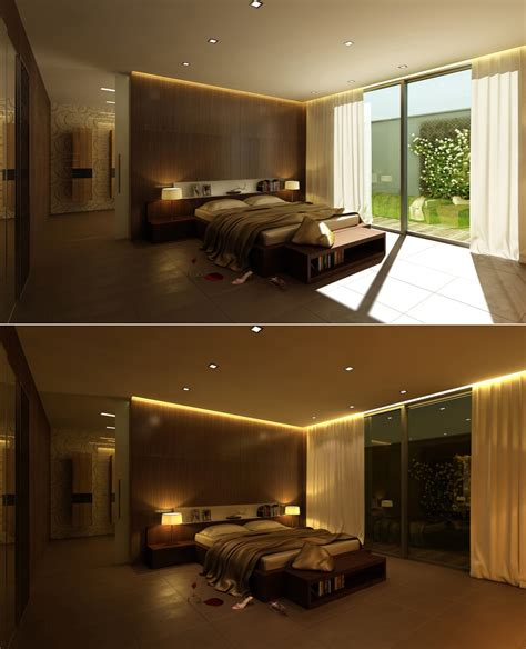 led chambre stylish bedroom designs with beautiful creative details
