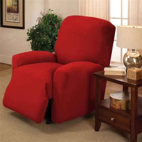 Amazon Com Madison Stretch Jersey Red Sofa Slipcover Solid