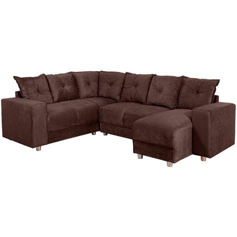 shoptime sofá de canto sof 225 de canto chaise 6 lugares 5070 tecido suede luxo