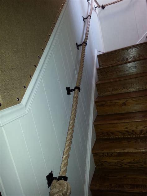 Treppe Handlauf Seil by Rope Handrail Burlap Wallpaper Countrustical Design