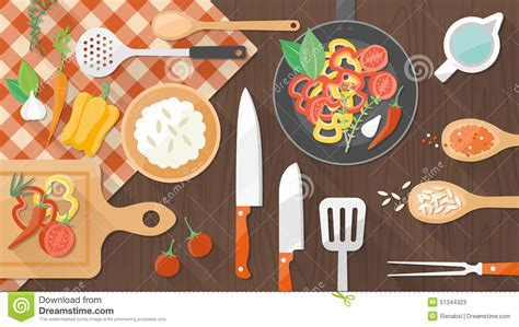 cuisine and cook food and cooking stock vector image 51344323