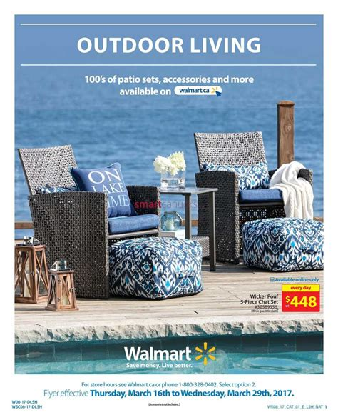walmart outdoor living catalogue march 16 to 29 walmart