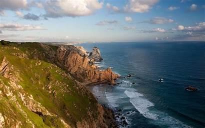 Ireland Sea Cliff Nature Landscape Rock Clouds