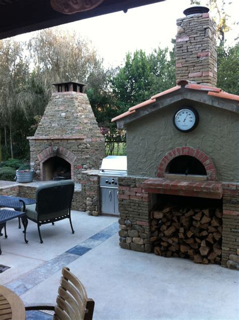 outdoor gable roof wood fired pizza ovens mediterranean