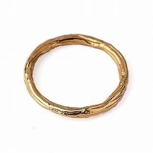 TWIG Ring Thin Wedding Band Gold Wedding Band Ring Thin