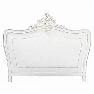 Tte De Lit 180 En Pin Blanc Vieilli Comtesse Maisons Du