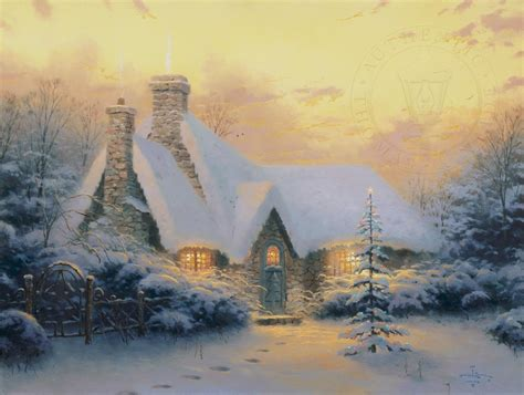 christmas tree cottage limited edition art thomas