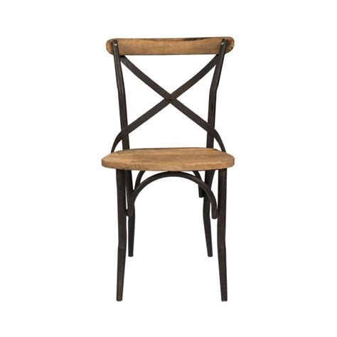Cana, Chaise Bistrot, Industrielle, Bois, Metal