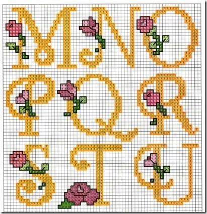 abc punto de con flores 4 alfabeto cursiva punto de puntos y flores