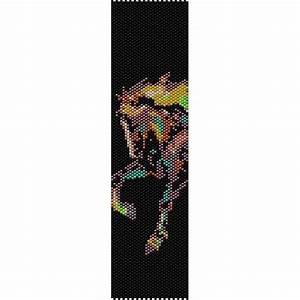 Panther Designs Free Painted Horse Loom Beading Pattern For Cuff Bracelet