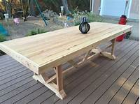 nice wood patio table DIY Outdoor Dining Table Projects | The Garden Glove