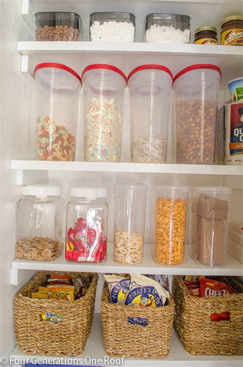 kitchen pantry storage containers our organized kitchen pantry closet reveal four 5493