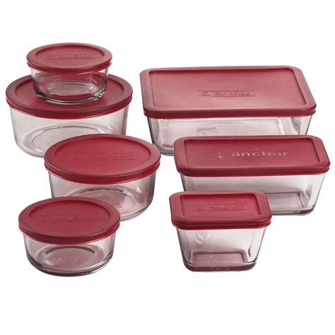 kitchen storage jar sets anchor hocking 14 kitchen storage set with lids 6180