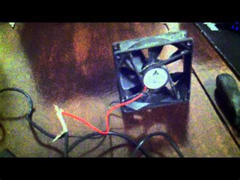 ac powered computer fan powering two computer fans with an ac adapter youtube