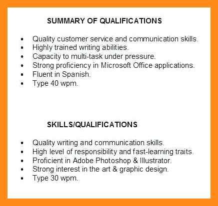 Chronological Resume Summary Of Qualification by 12 13 Summary Of Qualification On Resume