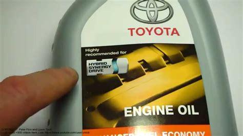 excellent engine oil  toyota hybrid cars