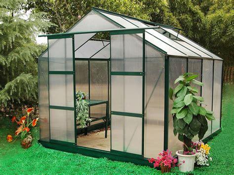 Garten Gewächshaus Aluminium Greenea  7,5 M² Günstig