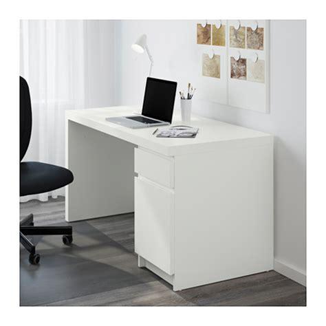 bureau ikea malm malm desk white 140x65 cm ikea