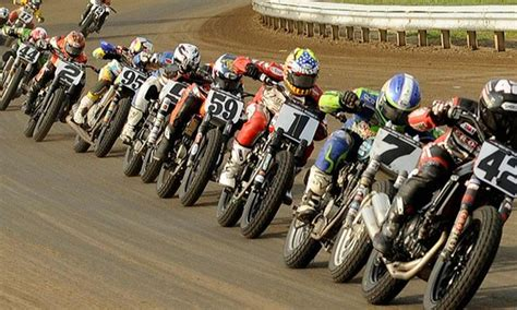 Ama Flat Track Motorcycle Racing. Full Throttle Down The