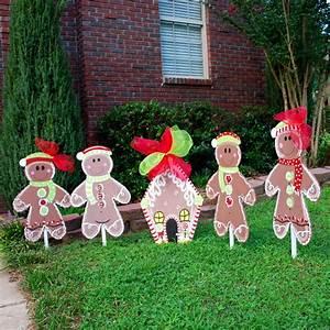 Christmas Yard Decor Gingerbread Man Christmas by