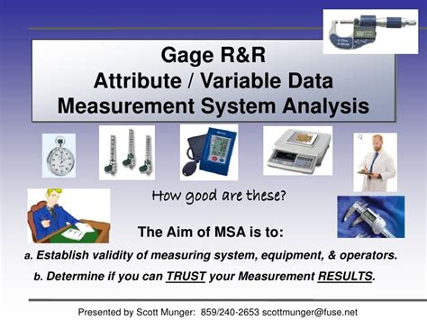 gage rr measurement systems analysis sample