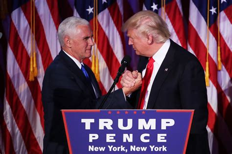 pence trump mike donald president vice election elect night fake victory his christie via apology demands hamilton cast york most