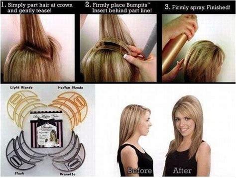 Bumpits, Big Happie Hair hairpin, Bump it ,Hair BRUNETTE