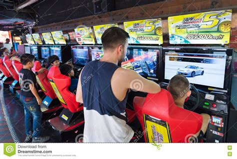 Amusement Arcade In Mbk Shopping Center Bangkok Editorial