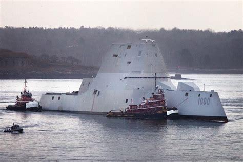 Boat Yard Dog Trials In Rockland by Bath Built Stealth Destroyer Starts New Sea Trials March