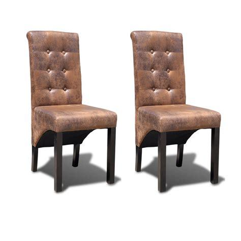 chaises salle à manger cuir chaise cuisine moderne