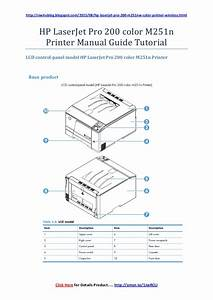 Hp Laserjet Pro 200 Color M251nw Printer Manual Guide Tutorial
