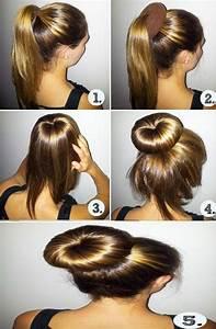 Coiffure Mariage Facile Cheveux Mi Long : chignon facile faire cheveux mi long ~ Nature-et-papiers.com Idées de Décoration