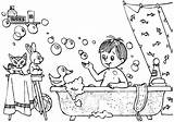 Hygiene Coloring sketch template
