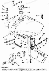 Yamaha Atv 1983 Oem Parts Diagram For Fuel Tank