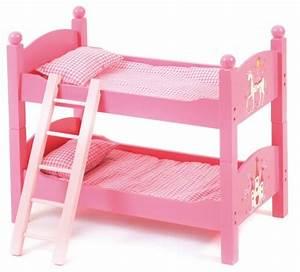 Lit Poupee En Bois : lits superpos s rose poup e jouet lit jumeaux poupon chic 2000 ~ Teatrodelosmanantiales.com Idées de Décoration